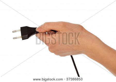 black euro plug