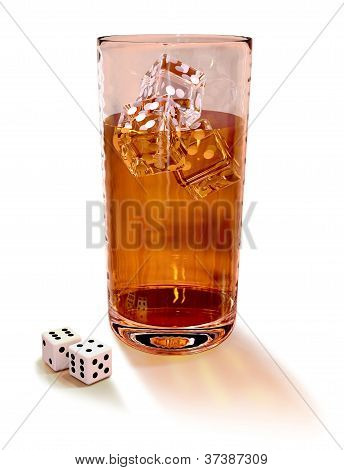 dices with cocktail