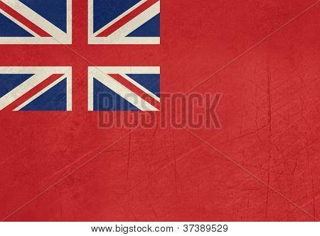Grunge British Merchent Navy Ensign for civilian fleet