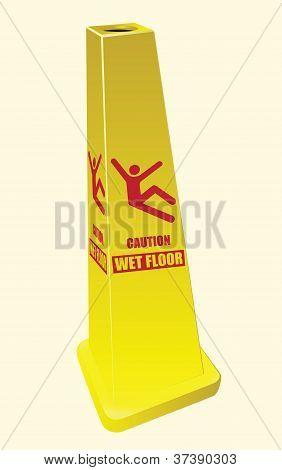 Wet Floor Sign - Caution