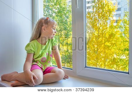 A child at the window.