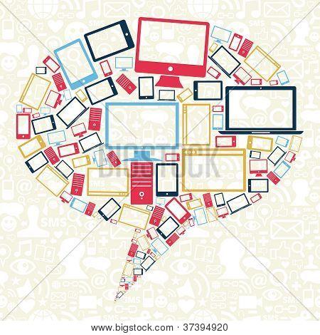 soziale Netzwerke Minianwendungen Symbole Sprechblase