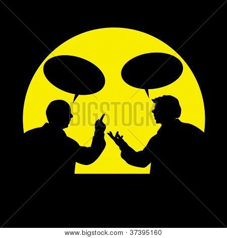Two Men In The Story Vector