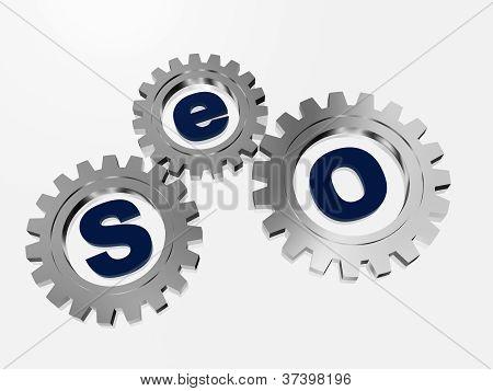 Seo In Silver Gearwheels.