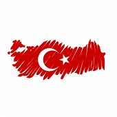 map flag Turkey