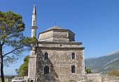image of giannena  - Its Kale castle and the Fethiye Mosque at Ioannina city in Greece - JPG