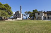 stock photo of giannena  - Fethiye Mosque and the tomb of Ali Pasha at Ioannina city in Greece - JPG