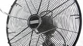 pic of heatwave  - retro classic table fan close up isolated over white - JPG