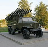 foto of bm-13  - Katyusha multiple rocket launchers are a type of rocket artillery built and fielded by the Soviet Union beginning in the Second World War.
