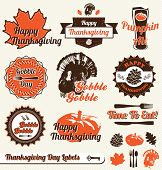 image of fall-wheat  - Collection of Thanksgiving Day labels and stickers - JPG