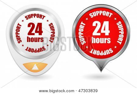 24hours support button