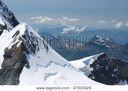 Jungfraujoch In Alps, Switzerland
