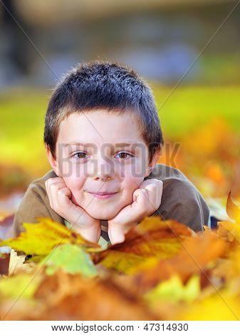 autumn boy  portrait shoot in the garden