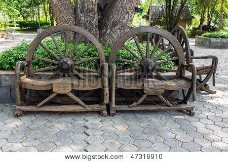 Cartwheel Chair , Thai Style