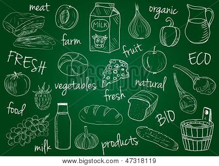 Farm Products Doodles - School Board