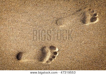 Footsteps In Sandy