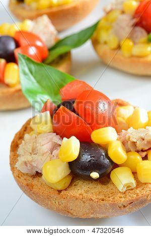 Bruschetta  Tunny And Corn