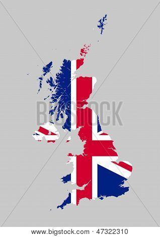 Mapa de bandera Reino Unido