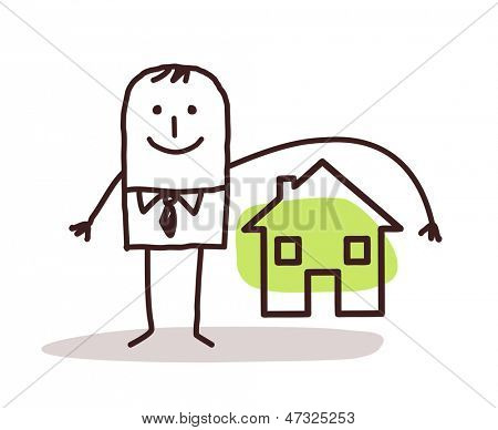 businessman and house insurance