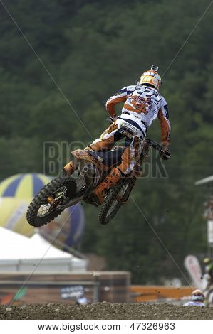 World Champion Antonio Cairoli jump on Ktm