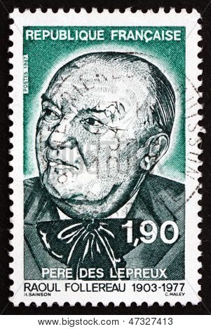 Postage Stamp France 1987 Raoul Follereau, Journalist