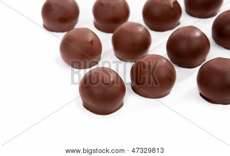 Delicious Chocolate Candy Isolated