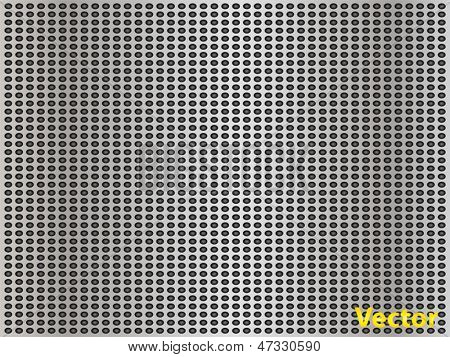 Vector eps concept conceptual gray metal stainless steel aluminum perforated pattern texture mesh background