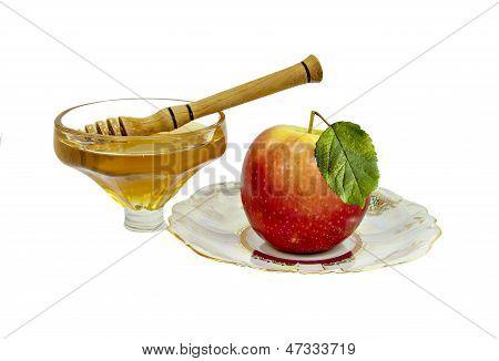 Honey and apple for Rosh Hashanah