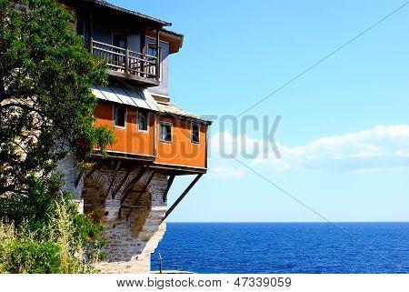 Monastery Xenofontos On Mount Athos, Chalkidiki, Greece