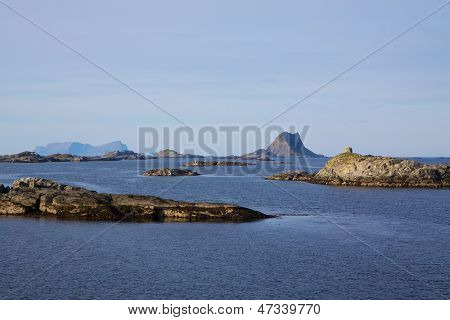 Islets On Norwegian Coast
