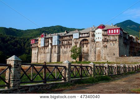 Monastery Iviron On Mount Athos, Chalkidiki, Greece