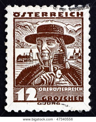 Postage Stamp Austria 1934 Man From Upper Austria