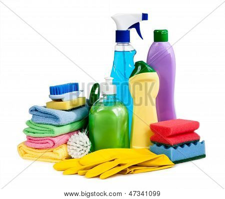 Sponges, Bottles Of Chemistry, Gloves For The Guidance Of Purity