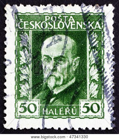 Postage Stamp Czechoslovakia 1925 Tomas Garrigue Masaryk