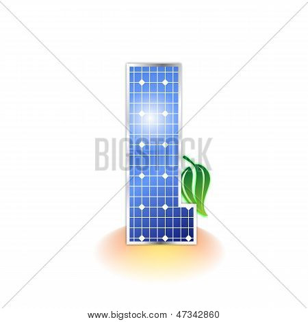 solar panels texture, alphabet lowercase letter l icon or symbol