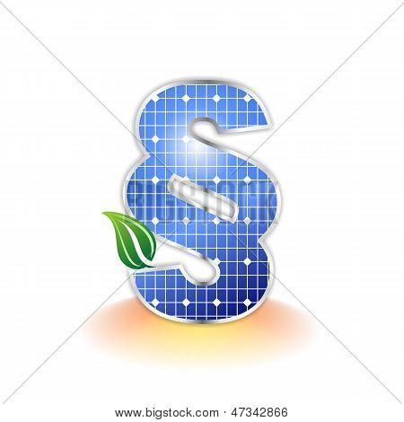 Solar panels texture, paragraph icon or symbol