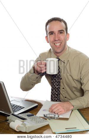 Lawyer Drinking Coffee