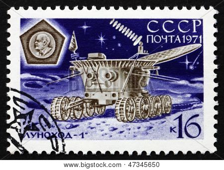 Postage Stamp Russia 1971 Lunokhod 1 In Operation