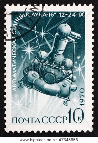 Postage Stamp Russia 1970 Luna 16, Moon Mission