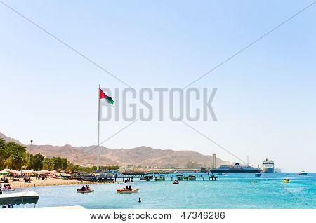 Landscape Of Aqaba Beach