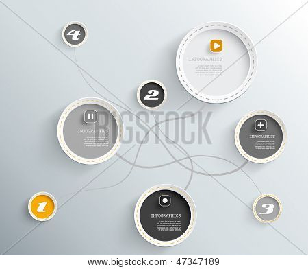 3d circles with shadows and place for your own text.