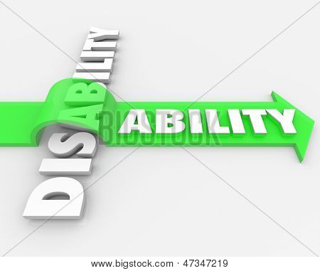 A positive attitude and determination can help you overcome your disability and turn a challenge, obstacle or adversity into a new ability