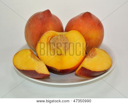 Peach and slices