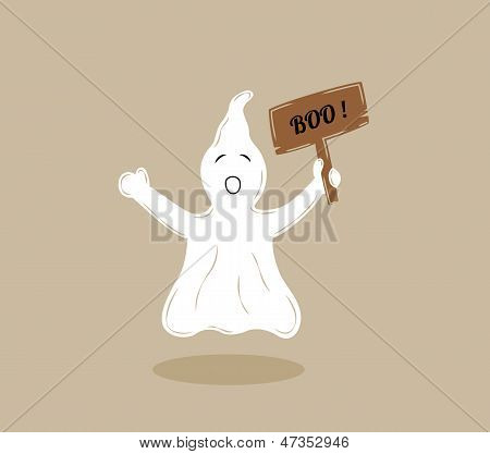 Ghost With Wooden Table