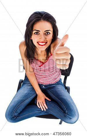 Thumbs Up From A Beautiful Girl