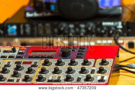 Closeup Photo Of An Audio Mixer
