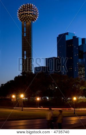 Reunion Tower At Night