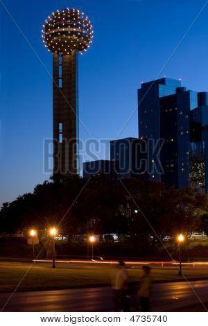 Reunion Tower At Night