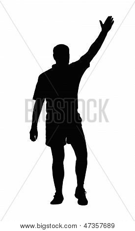 Rugby Referee Awarding Penalty Or Try