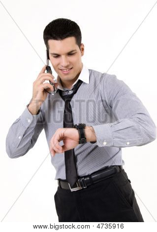 Businessman With Phone And Watch